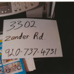 Exhibit 149 - sign zander road